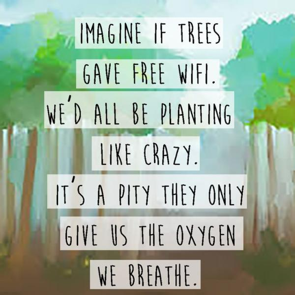 plant trees for oxygen
